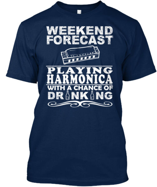 Harmonica - Weekend Forecast Playing With A Chance Of Standard Unisex T-shirt