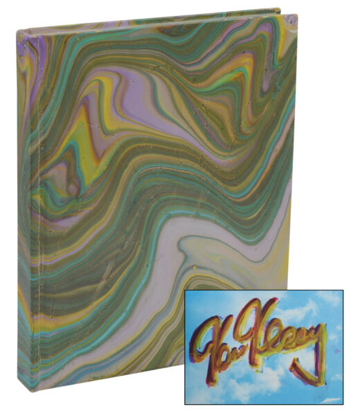 The Further Inquiry ~ PAINTED & Signed by KEN KESEY ~ First Edition 1990 Marbled