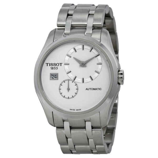 Tissot Couturier White Dial Stainless Steel Automatic Men#x27;s Watch T0354281103100 $258.96