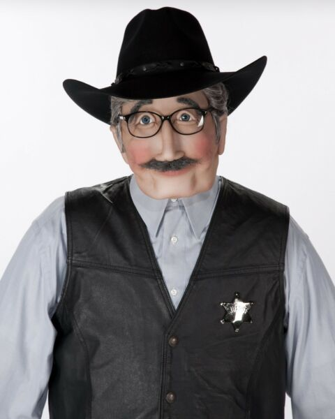 Old Western Sheriff Soft Sculpture Life Size Sized Doll