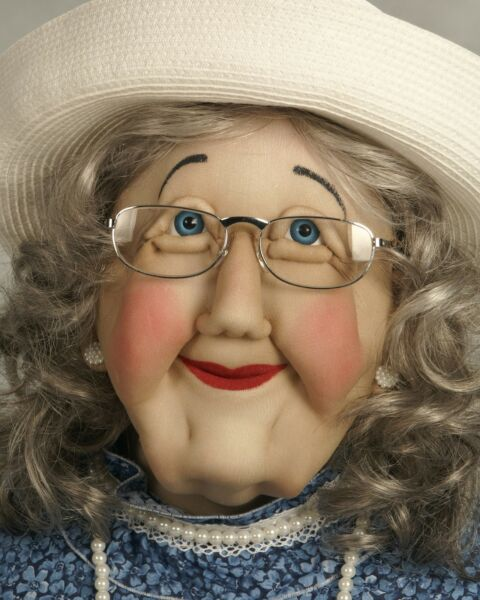 Grandma (Grand Mother) Art Soft Sculpture Life Size Sized Doll