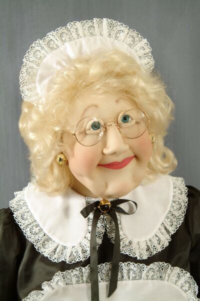 Maid Lady Woman Soft Sculpture Life Size Sized Doll