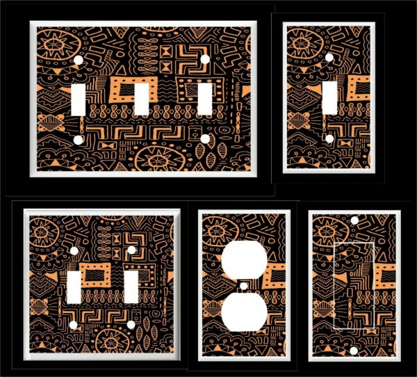 AFRICAN TRIBAL PRINT #21  LIGHT SWITCH COVER PLATE     HOME DECOR