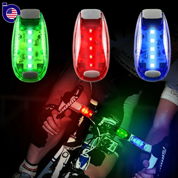 124Pack LED Safety Light Clip On Strobe Running Cycling Bike Tail Warning Gear