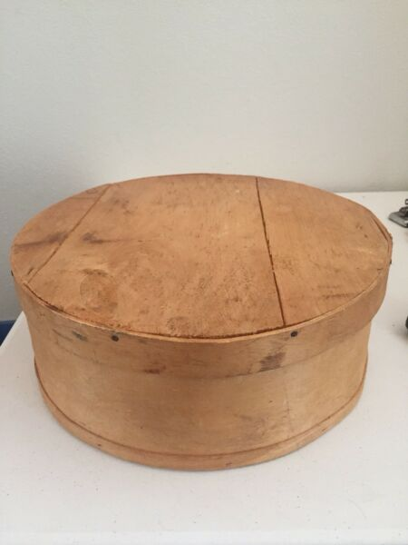 Vintage Round Bentwood Shaker Pantry Cheese Box Large 15