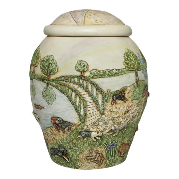 Perfect Memorials Dog Rainbow Bridge II Pet Cremation Urn $99.95