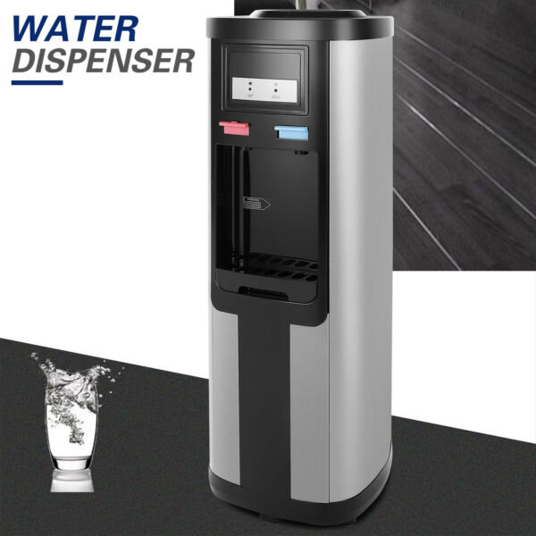5 Gallon Top Loading HotCold Water Cooler Dispenser Stainless Steel Home Office