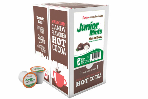 JUNIOR MINTS Chocolate Mint Hot Cocoa Pods for Keurig K Cup Makers 40 Ct K Cups