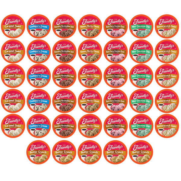 40 Friendly's Variety Pack Coffee Pods for Keurig K-Cups Brewer