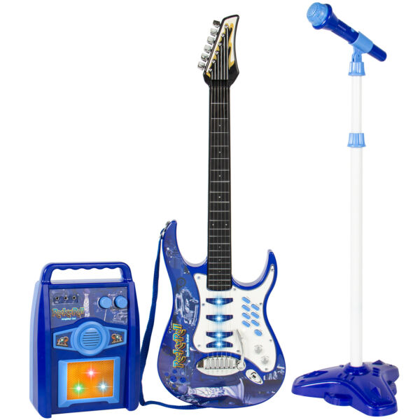 BCP Kids Electric Guitar Toy Play Set w 6 Songs Microphone Amp