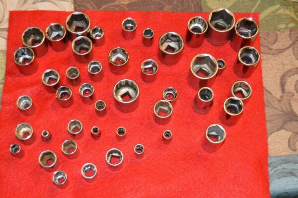CRAFTSMAN USA 1 2quot; Dr SAE AND METRIC SHALLOW SOCKET 6 8 AND 12 Point