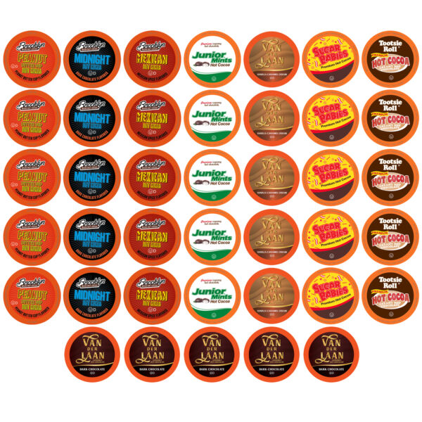 40 BEST Of The BEST Hot Chocolate K-Cups Variety Pack for Keurig K-Cup Brewers