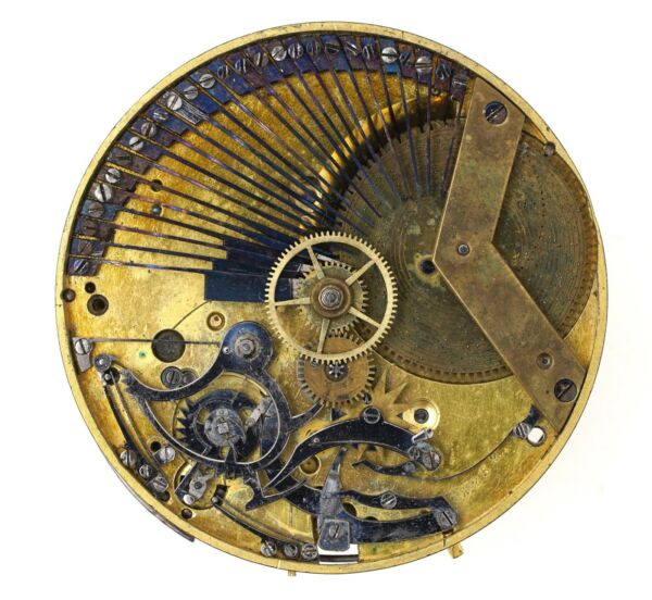 SWISS CYLINDER REPEATING MUSICAL POCKET WATCH MOVEMENT FOR REPAIR H51