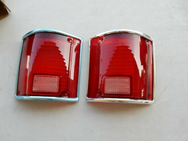 1973-1987 ChevyGMC C10K5 BLAZER TAIL LIGHT LENS 1 PAIR WITH TRIM