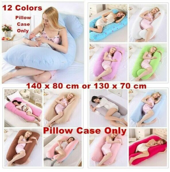Pregnancy Pillow Maternity U Shaped Cotton Full Body Pillow  Case Sleep Support