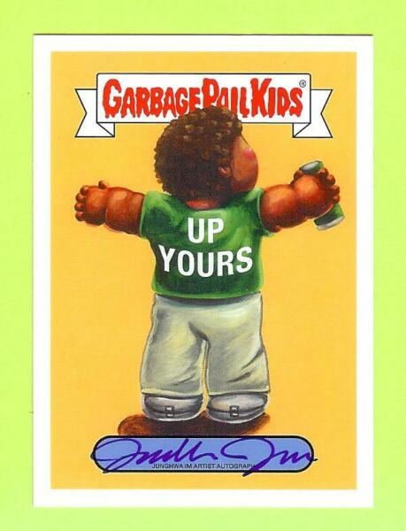 2019 GARBAGE PAIL KIDS WE HATE THE 90'S JUNGHWA IM AUTO AUTOGRAPH #0125
