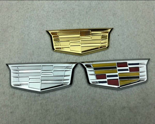 Car Logo Emblems Fender Stickers Side Decals Badge Accessories For Cadillac