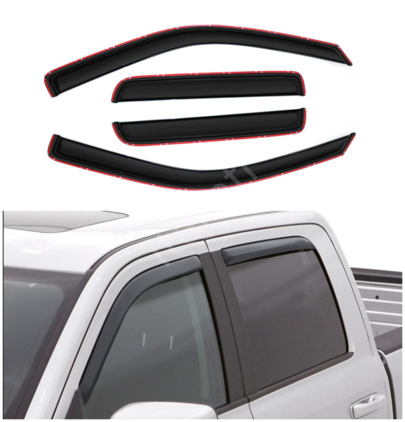 4pcs In-Channel Window Visors Fit 04-12 ColoradoCanyon Crew Cab w 4 Full Doors