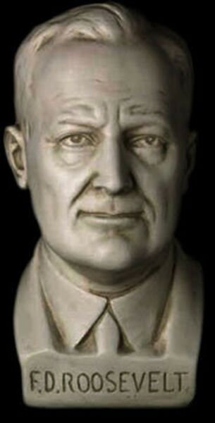 Franklin D.Roosevelt FDR American US President Bust Sculpture reproduction