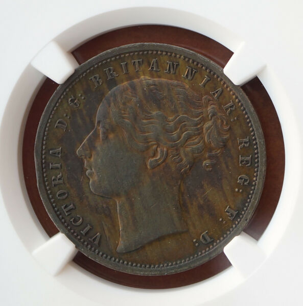 South Africa  Pattern Penny  Griqua Town c. 1890 Proof Like  Coin NGC AU SCARCE