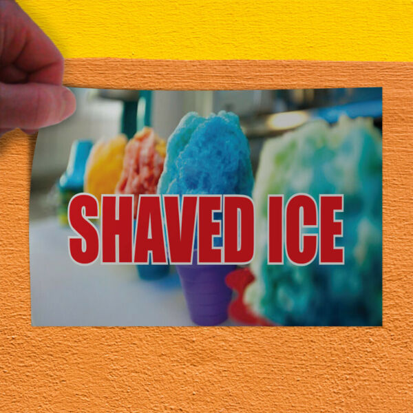 Decal Sticker Shaved Ice #1 Style B Retail cold dessert Outdoor Store Sign blue