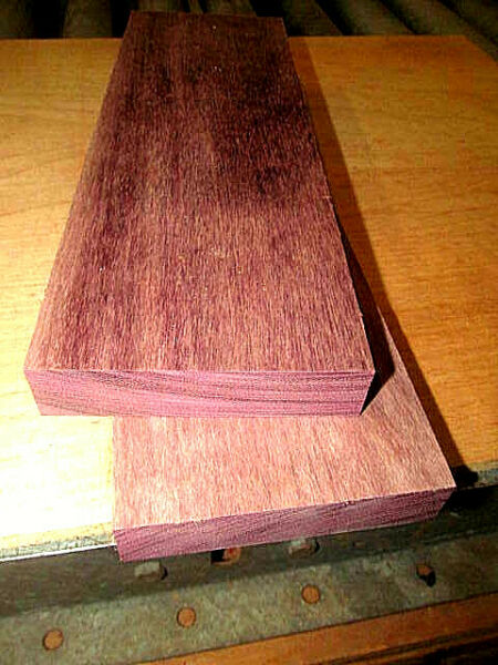 TWO (2) PREMIUM KILN DRIED SANDED PURPLEHEART LUMBER WOOD BLANKS 12 X 4 X 78