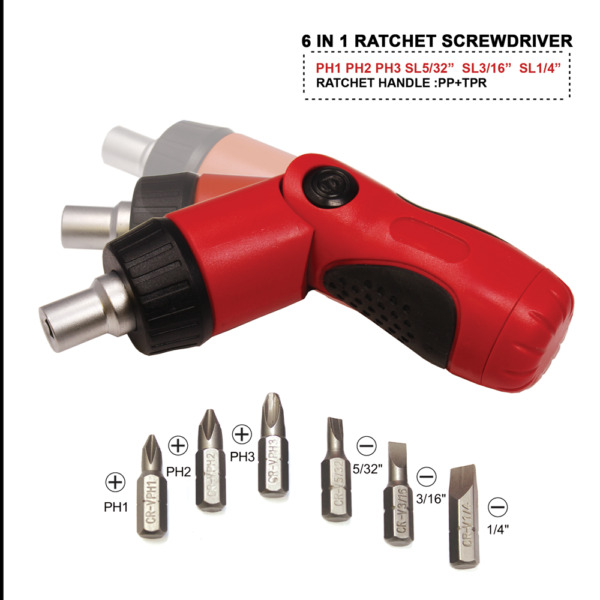 Toolman 6pc adjustable Ratchet Screwdriver Set is perfect Small tool Easy carry $10.79