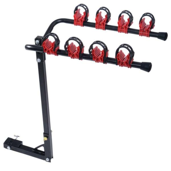 4 Bike Bicycle Rack Carrier Hitch Mount 1 1 4quot;amp;2quot; Car Truck SUV Outdoor Cycling $36.99