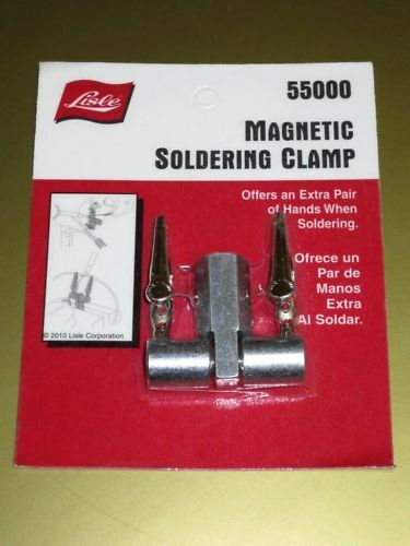 Lisle magnetic soldering clamp control cable making solder tool