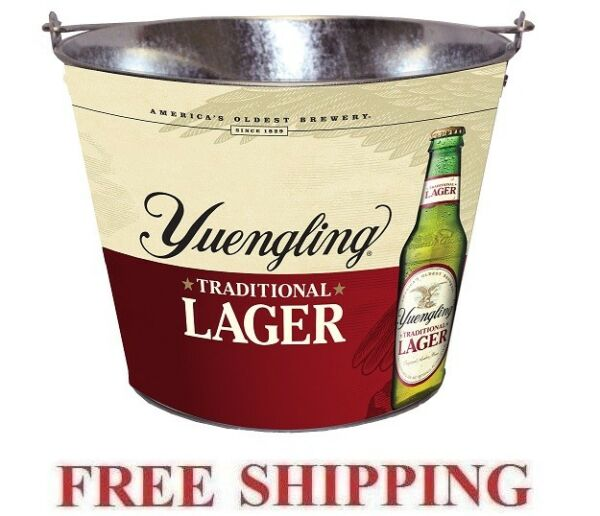 YUENGLING LAGER 5QT FULL LOGO METAL BEER ICE BUCKET COOLER NEW