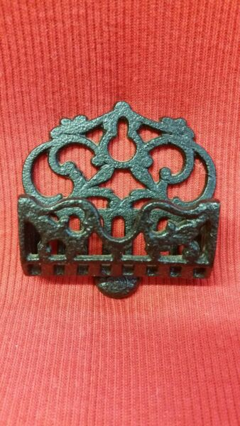 Cast Iron Fireplace STICK MATCH Holder Retro Look Very Useful Awesome