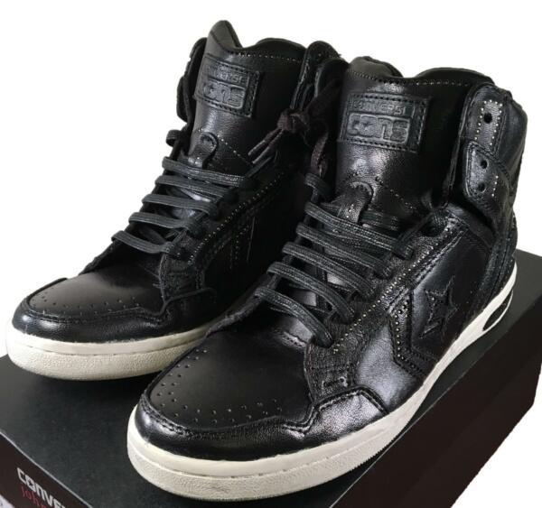 Converse by John Varvatos JV Weapon Mid Sneaker Leather Studded BLACK 139715C