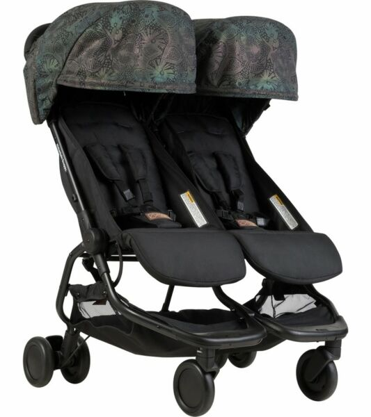 Mountain Buggy Nano DUO Double Stroller Year of the Dog!! Bonus Front Grab Bar!!