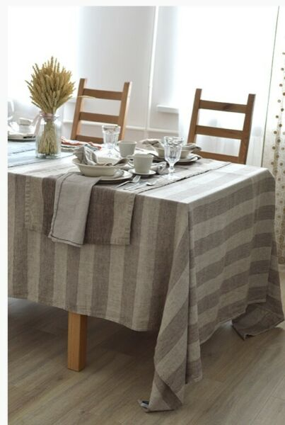 Extra Quality Linen Pure Linen Tablecloths 56 x 98 In Eco 100% Linen Home Decor