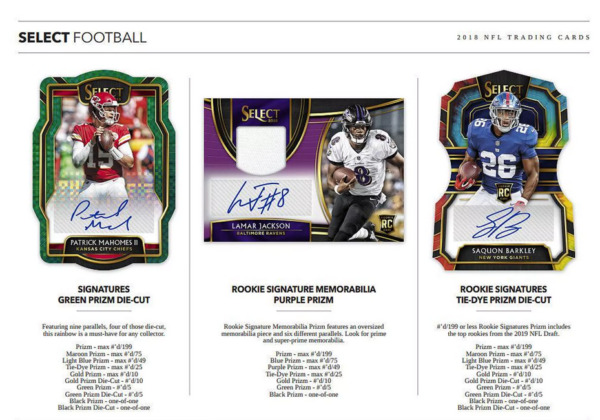 2018 PANINI SELECT FOOTBALL HOBBY PICK YOUR PLAYER (PYP) 1 BOX BREAK #2