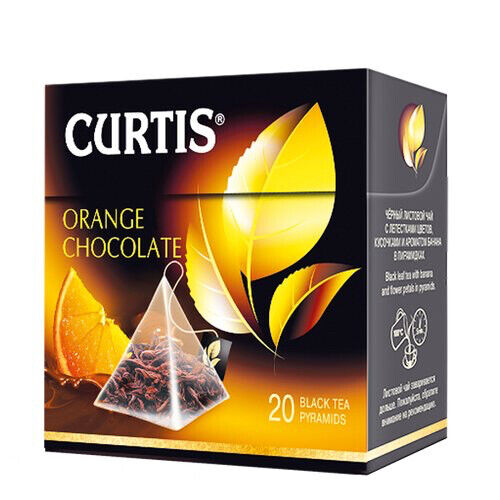 CURTIS Black tea Orange and Chocolate 20 Pyramids per box USA Shipping