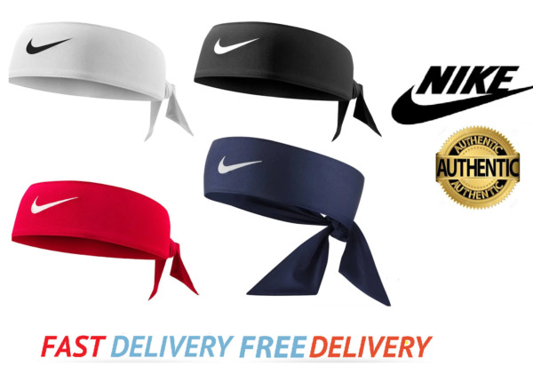 AUTHENTIC Nike Official Dri-Fit 2.0 Training Head Tie Headband - PAYPAL ACCEPTED