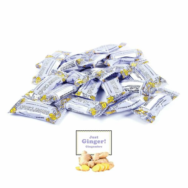 Gem Gem Ginger Candy Chewy Ginger Chews (1 Pound Bulk Pack)