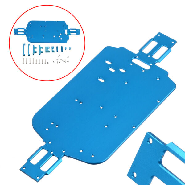 Upgrade Metal Chassis for Wltoys 118 A949 A959-B A969 A979 K929 RC Cars Blue