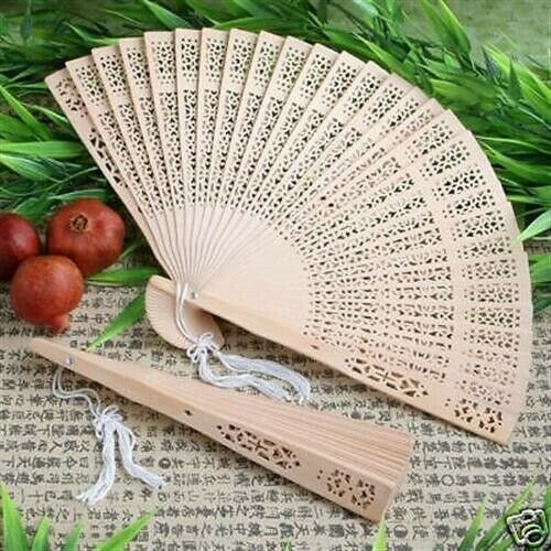 Sandal Wood Fans Sandalwood Wedding Favors Bridal Shower Favors Set of 40 $39.60