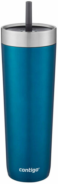 Contigo Luxe Stainless Steel Tumbler with Spill-Proof Lid and Straw  Insulated