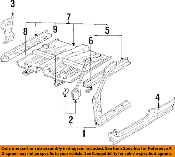 HONDA OEM 94-97 Accord-Hinge Pillar Reinforcement Left 04645SV2310ZZ