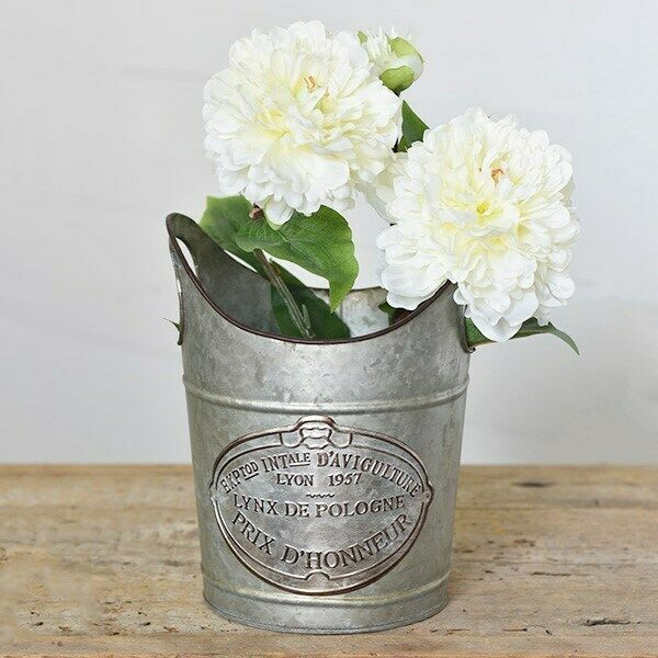 French Tin Champagne Pail Bucket