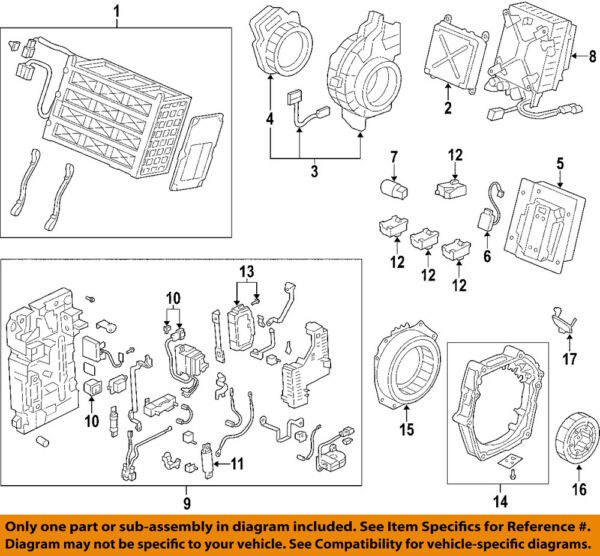 HONDA OEM 03-05 Civic Hybrid-Stator Assembly 1A240PZA305