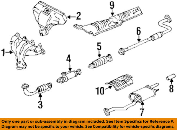 HONDA OEM 96-97 Accord 2.2L-L4 Exhaust System-Catalytic Converter 18160P0JL02