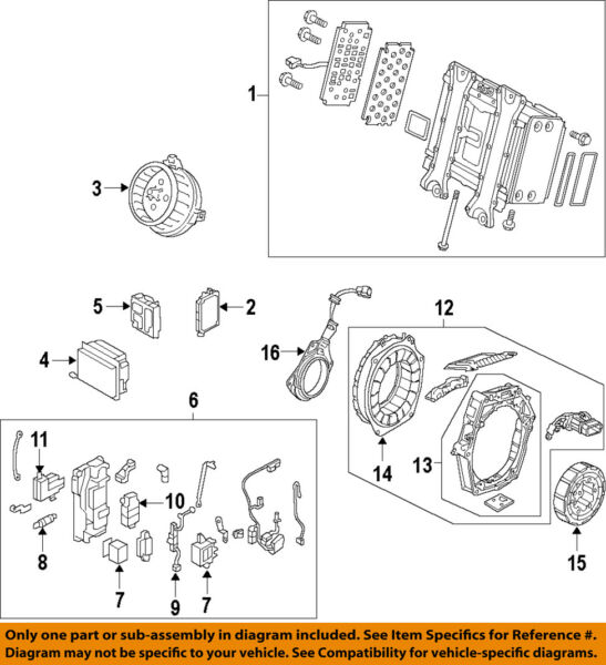 HONDA OEM 06-11 Civic Hybrid-Stator Assembly 1A240RMX305
