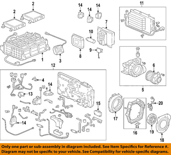 HONDA OEM 00-06 Insight Hybrid-Stator Assembly 1A240PHM000