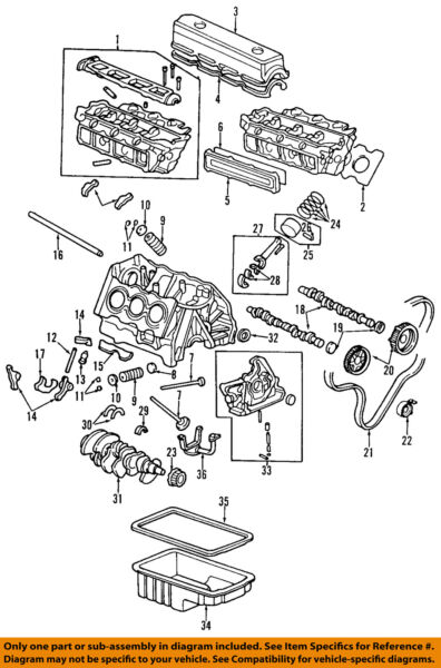 HONDA OEM 95-97 Accord-Engine Cylinder Head 12100P0GA00