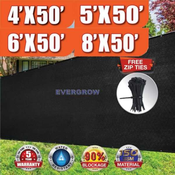 Black 4#x27; 5#x27; 6#x27; 8#x27; tall Fence Windscreen Privacy Screen Shade Cover Mesh Garden