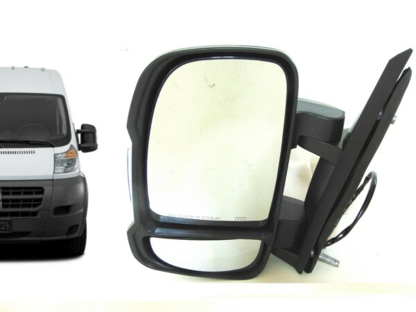 Fits Ram ProMaster Side Rear View Mirror Driver Front Door Power Heated 14-18